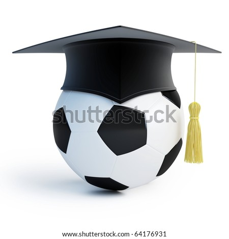 footbol school isolated on a white background - stock photo