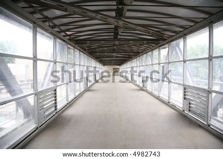 footbridge - stock photo