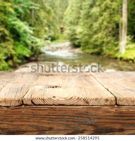 footbridge and river