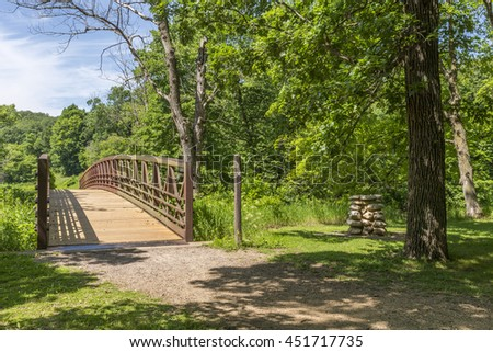 Footbridge In Park