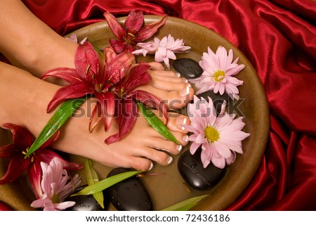 Footcare and pampering at the spa - stock photo