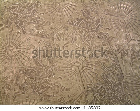 footpath design - stock photo