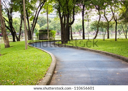 Footpath in Thailland - stock photo