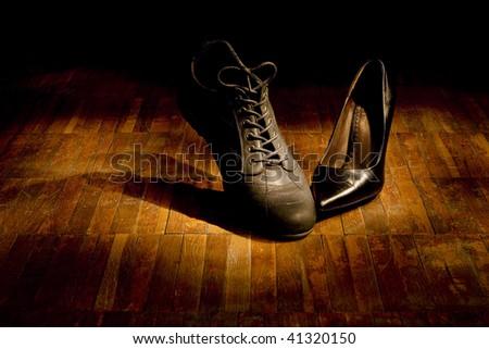 Footwear dance: love - stock photo