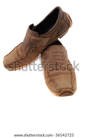 Footwear for socks standing on a white background