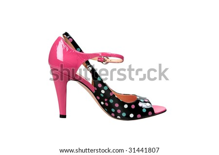 footwear isolated on a background - stock photo