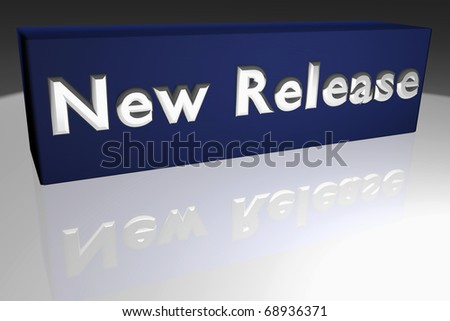 for a new release - stock photo