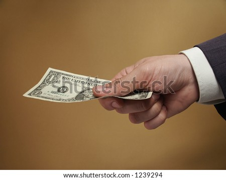 For one dollar - stock photo