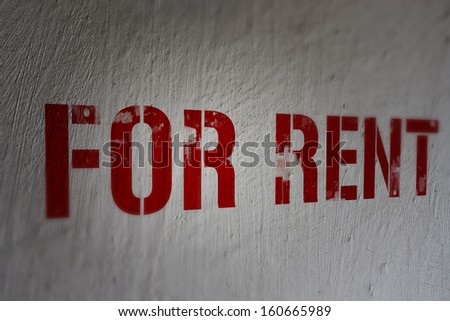 For Rent - stock photo