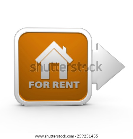 For rent square icon on white background