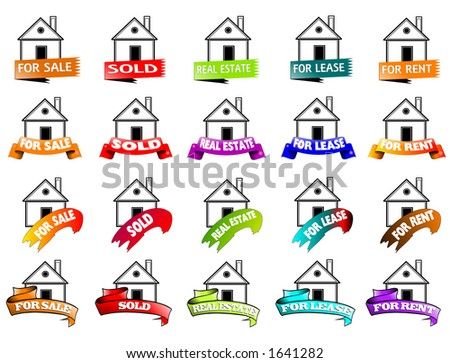 For sale house banner - stock photo