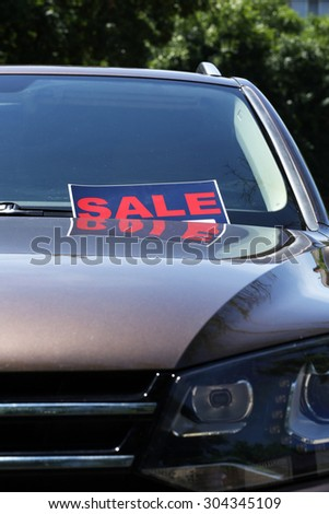 where to put for sale sign on car