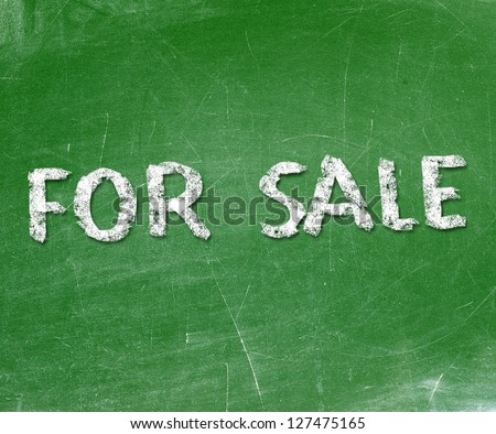 For Sale Text on Blackboard