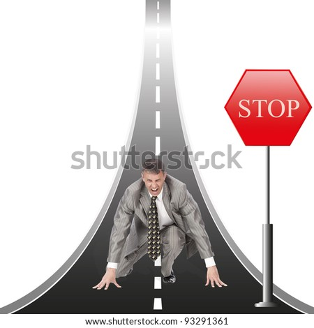 For successful conducting financial business, sometimes it is necessary to make way - stock photo