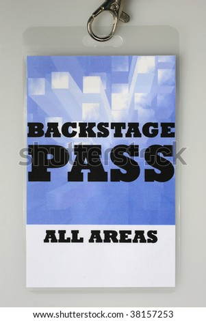 For the stage area you only get a backstage pass access. - stock photo