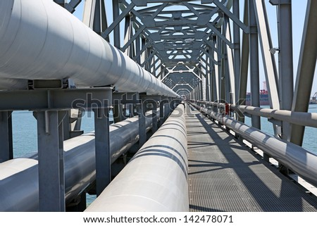 For the transport of oil and gas pipelines - stock photo