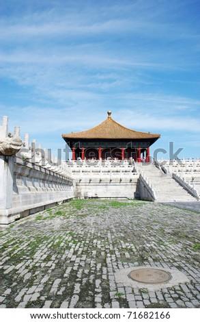 forbidden city - stock photo