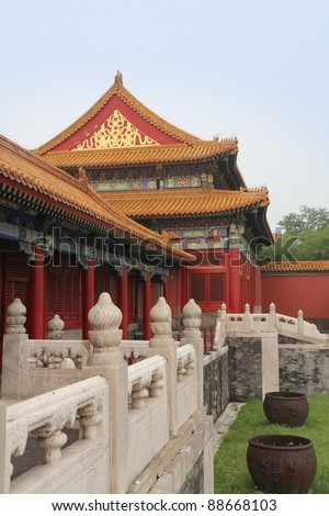 forbidden city, beijing - stock photo