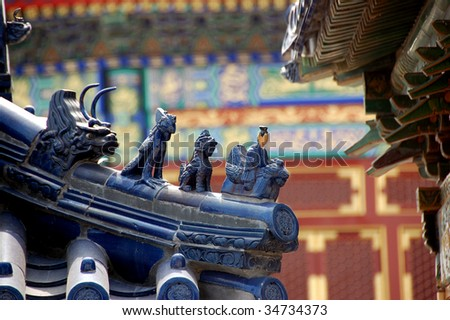 Forbidden City close-up in Beijing, China