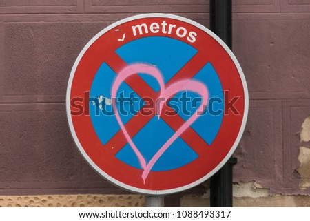 Forbidden Love Plate Stock Photo Royalty Free 1088493317