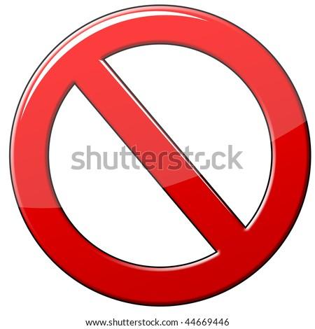 Forbidden symbol - stock photo