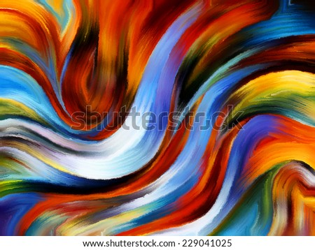Forces of Nature series. Design composed of colorful paint and abstract shapes as a metaphor on the subject of modern art, abstract art, expressionism and spirituality - stock photo