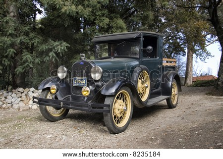 Ford A model Pickup from 1929. - stock photo