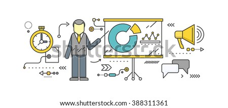 Forecast concept icon flat style. Business growth graph, finance market progress chart, financial investment, profit marketing, diagram stock increase, report and statistic data illustration - stock photo
