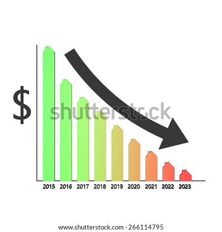 Forecast declining sales houses America - stock photo