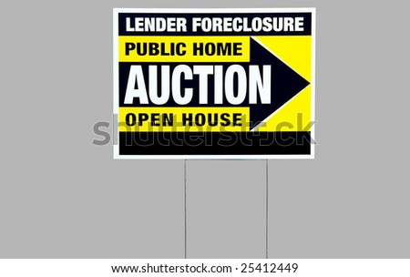 foreclosure auction sign - stock photo