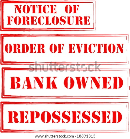 Foreclosure, Eviction Stamps - stock photo