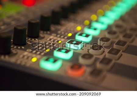 Foreground soundboard - stock photo