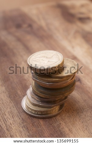Foreign Coins - stock photo