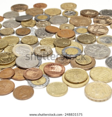 Foreign Coins and Currency, Money