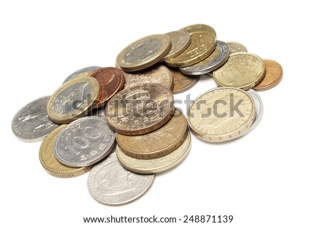 Foreign Coins, Money for Different Countries, Wold Currencies