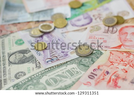 Foreign currency - stock photo