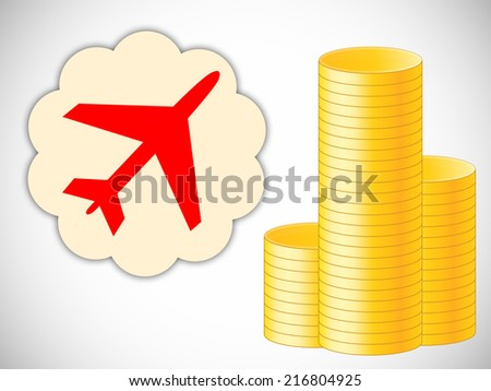foreign dream with money - stock photo