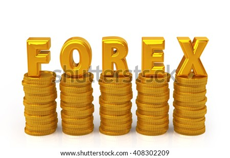 foreign exchange concept. 3D rendering - stock photo