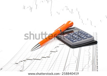 Foreign exchange market concept with copy space - stock photo
