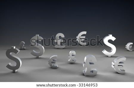 Foreign Exchange on Forex Market World Currencies - stock photo
