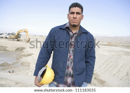 Foreman at construction site - stock photo