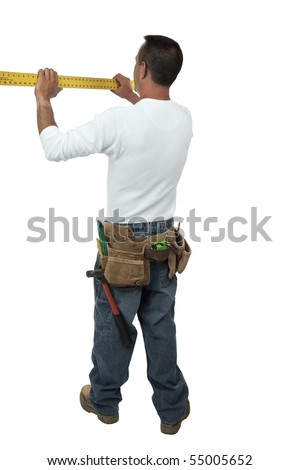 Foreman measuring - stock photo