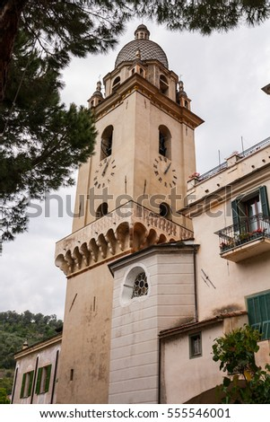 Foreshortenings of the historical center of the suburb ligure of Dolceacqua, Imperia, Liguria, Italy