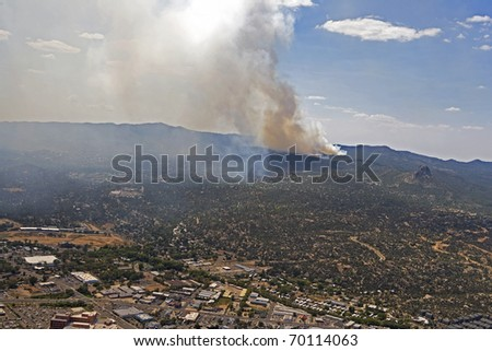 Forest Fire near Prescott, Arizona - stock photo