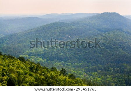 Forest Hills at Hot Springs National Park - stock photo