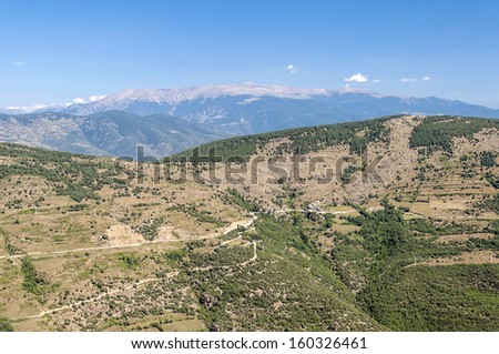 Forest of Sort situated in the spainish province of Lleida in pyrenees mountain - stock photo