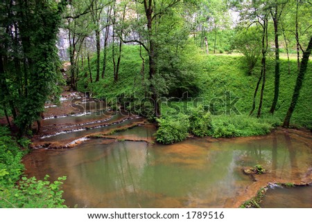 forestier lake - stock photo