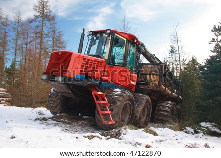 Forestry logging vehicle - stock photo