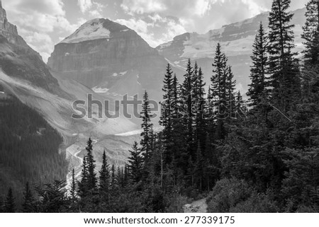 Forests and Mountains in the Banff National Park of Alberta, Canada - stock photo
