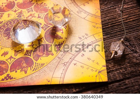 Foretelling the future through astrology - stock photo